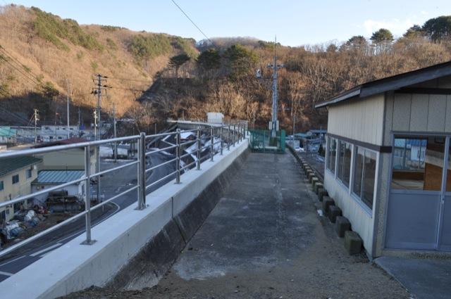 2013年1月6日太田名部の大堤防。400mmくらい嵩上げ。