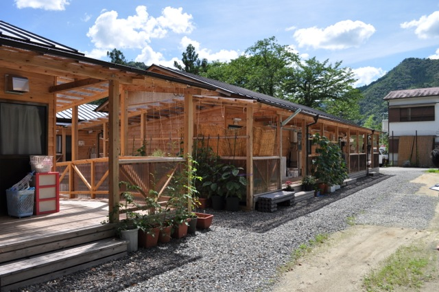 十津川村の木造仮設住宅