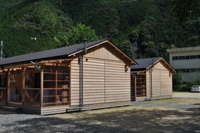 2011年台風12号災害の応急木造仮設住宅(奈良県吉野郡十津川村平谷)